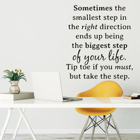 The smallest step wallsticker