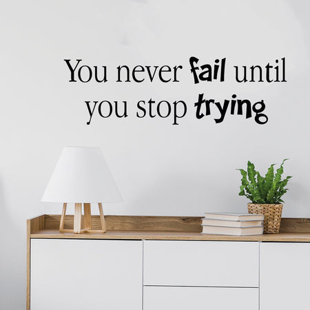 You never fail until.. Wallsticker