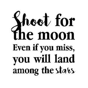 Shoot for the moon wallsticker