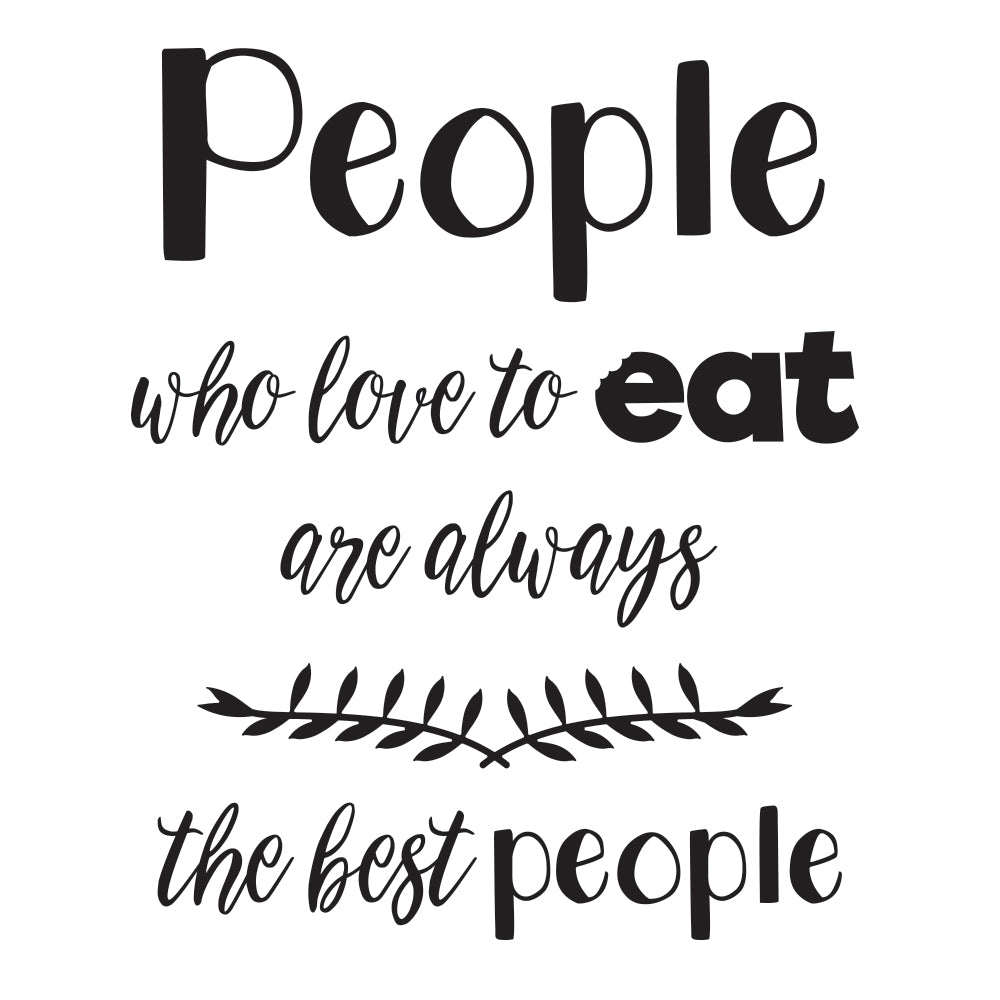 The best people Wallsticker