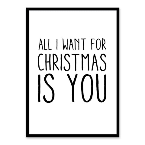 All I Want for Christmas is You - Juleplakat