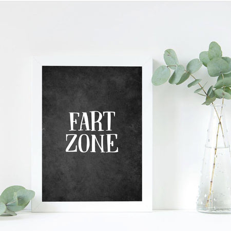 Fart Zone - toilet plakat
