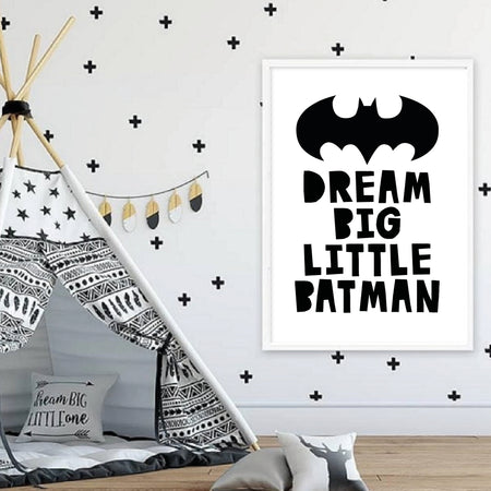 Dream big little Batman - plakat