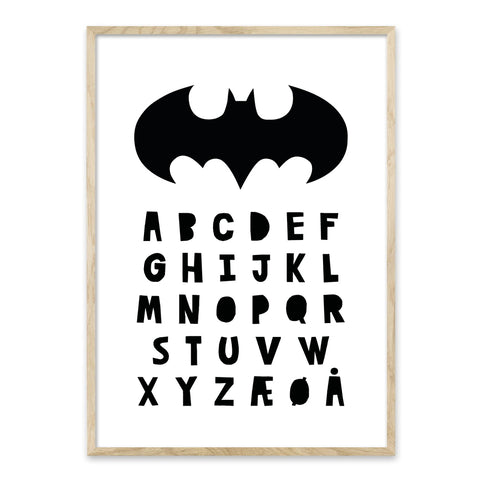 Batman ABC alfabet plakat