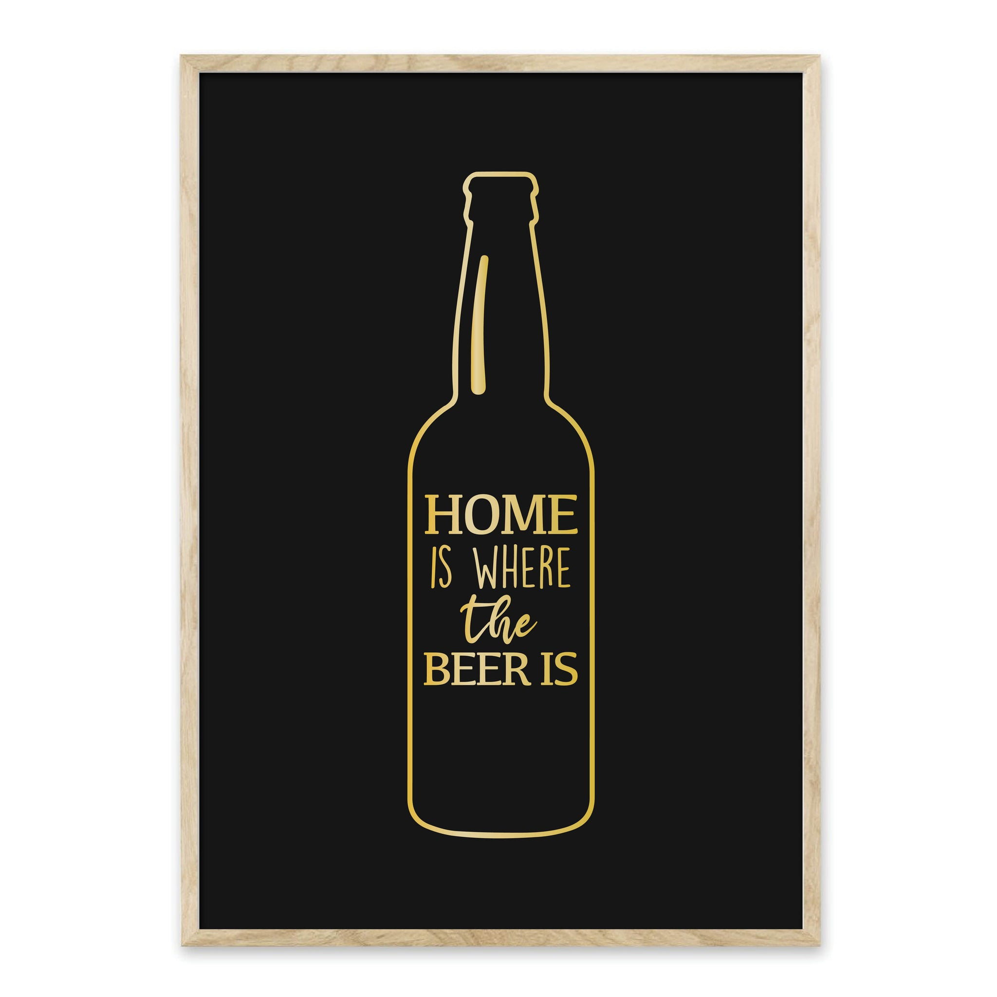 Home is where the beer is - plakat