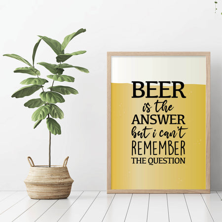 Beer is the answer - plakat
