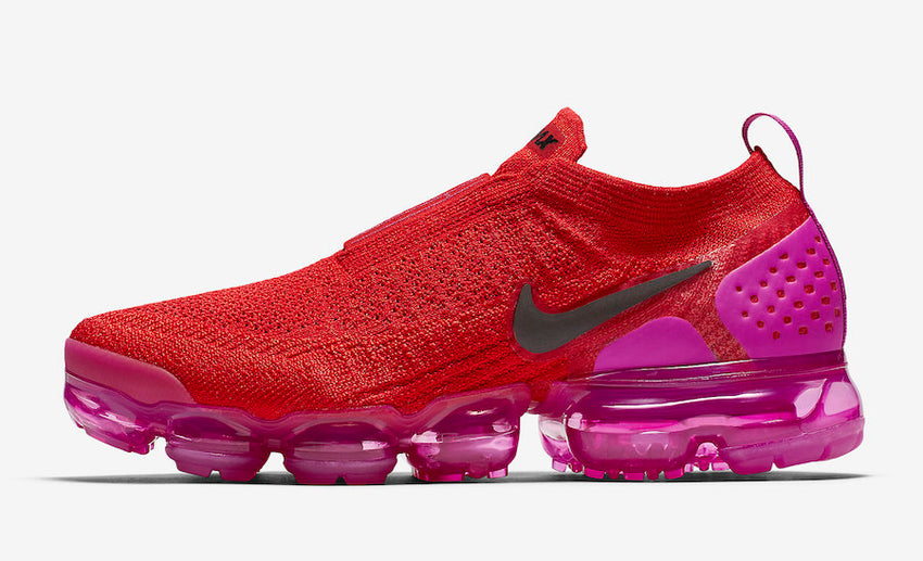 Nike Air Vapormax Flyknit Moc 2 Red Pink Women s Shoes b9c239ec7