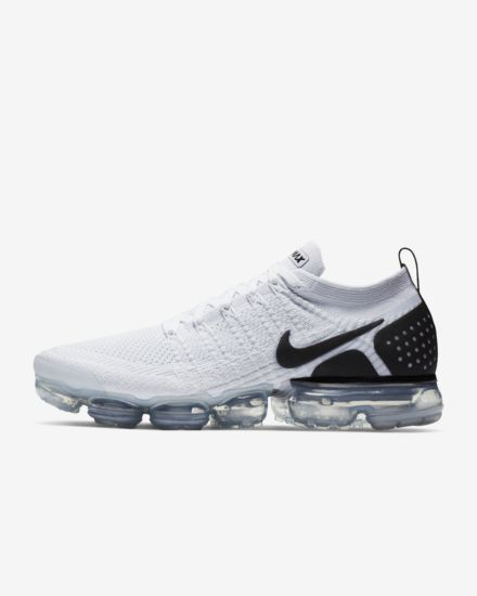 Nike Air VaporMax Flyknit 2 White Black Men s Shoes – Shoes Mart Store 0380acf22a38