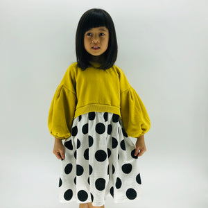 The Olivia Polka Dot Dress, Yellow