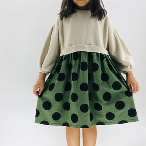 The Olivia Polka Dot Dress, Green