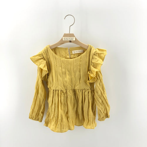 The Adelaide matching-with-mom Blouse, mustard yellow