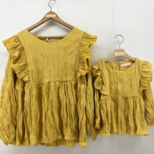 Load image into Gallery viewer, The Adelaide matching-with-mom Blouse, mustard yellow