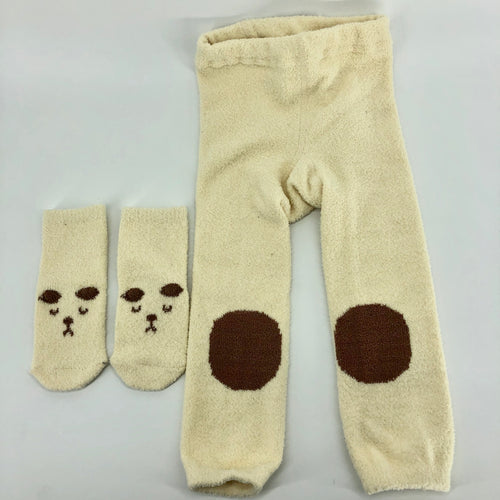 White Bear Leggings and socks