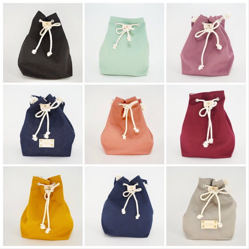Hand-made Canvas Bucket Bag
