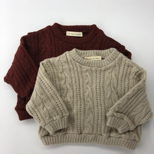 The Lucy Knit Burgundy