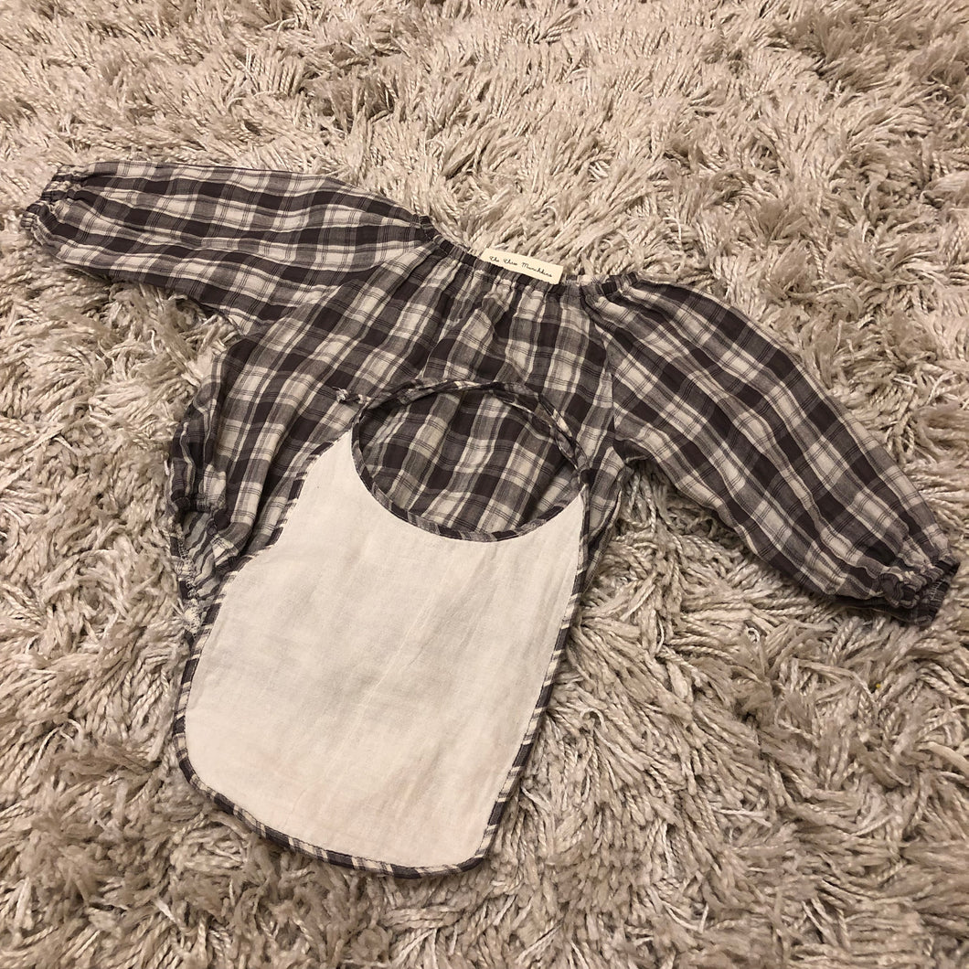 The Setlla Plaid Off-shoulders Brown