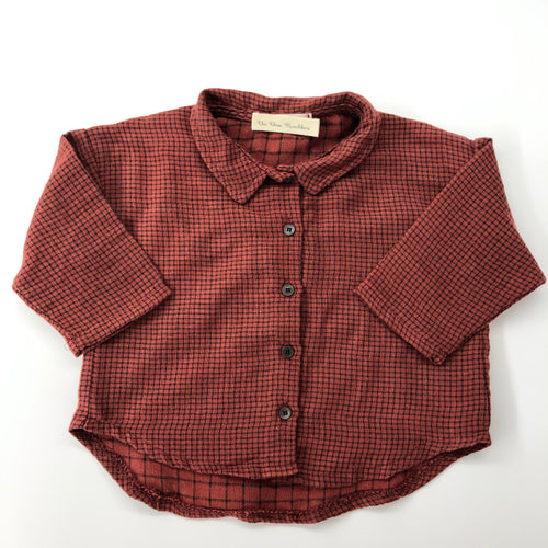 The Logan Plaid Maroon