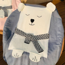 Load image into Gallery viewer, Polar Bear Knit Blanket, grey