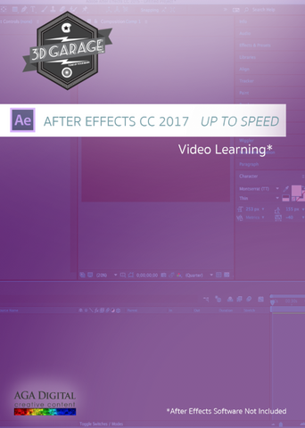 "After Effects CC2017 ""Up To Speed"""