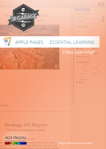"Apple Pages ""Essential Learning"""