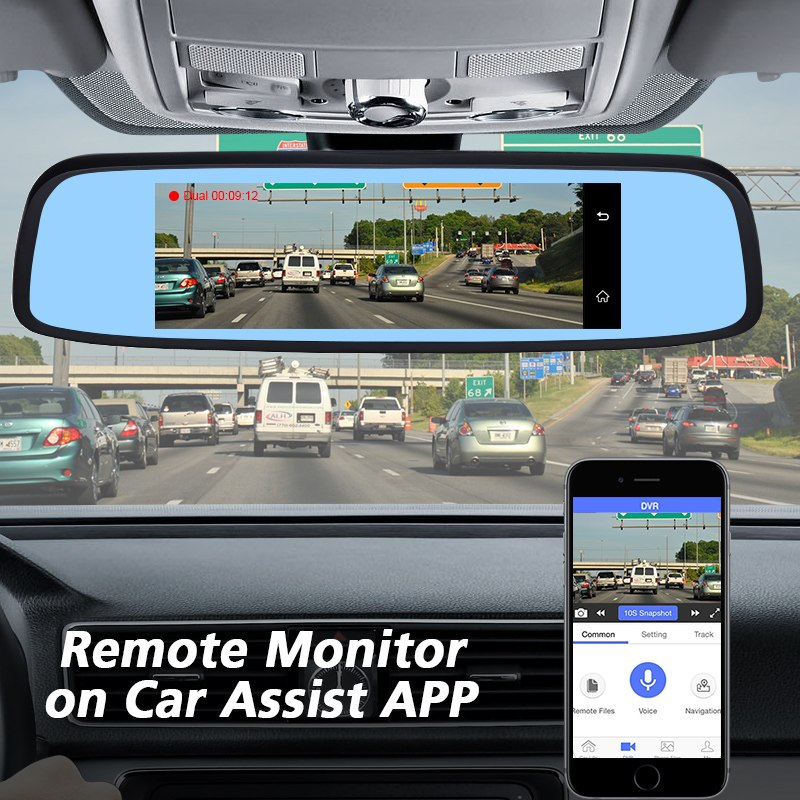 4G Special RearView Mirror Car DVR Android GPS Navi Auto 1080P Video