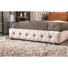 Dixon Transitional Button Tufted Beige Daybed