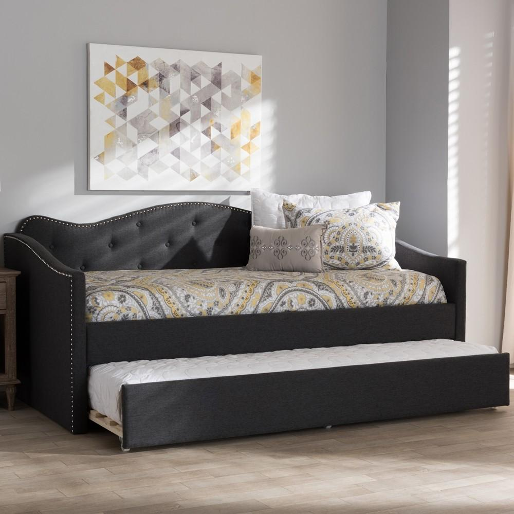 Dark grey modern and contemporary daybed