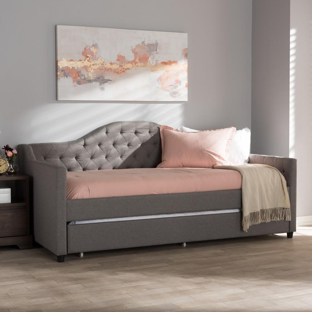 Light grey modern and contemporary daybed