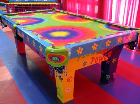 funky pool table felt
