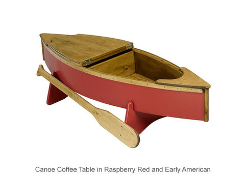 Canoe Coffee Table Opens Storage