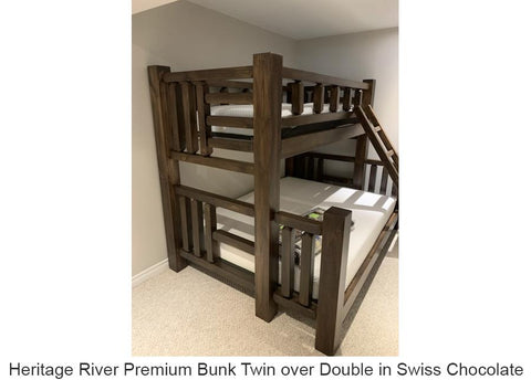 thick pine bunk bed canada