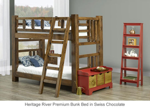 straight bunk bed twin over twin