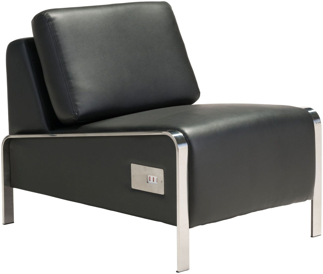 Thor Armless Chair in Black