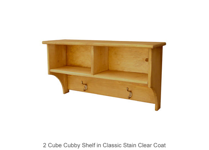2 Cube Cubby Shelf