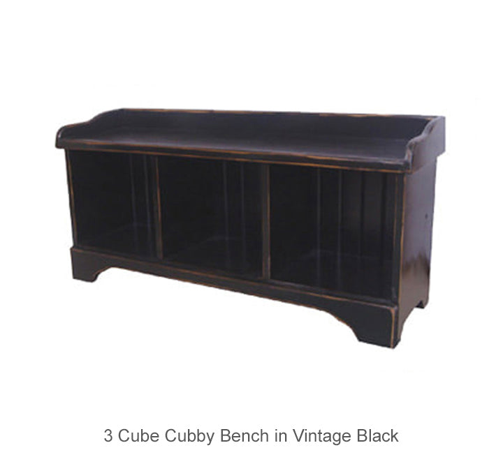 3 Cube Cubby Bench