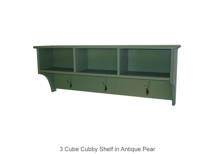 3 Cube Cubby Shelf