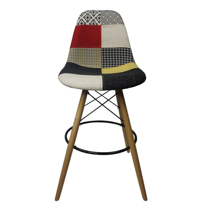 Patchwork  - Bar Eiffel Chair Stool - Reproduction