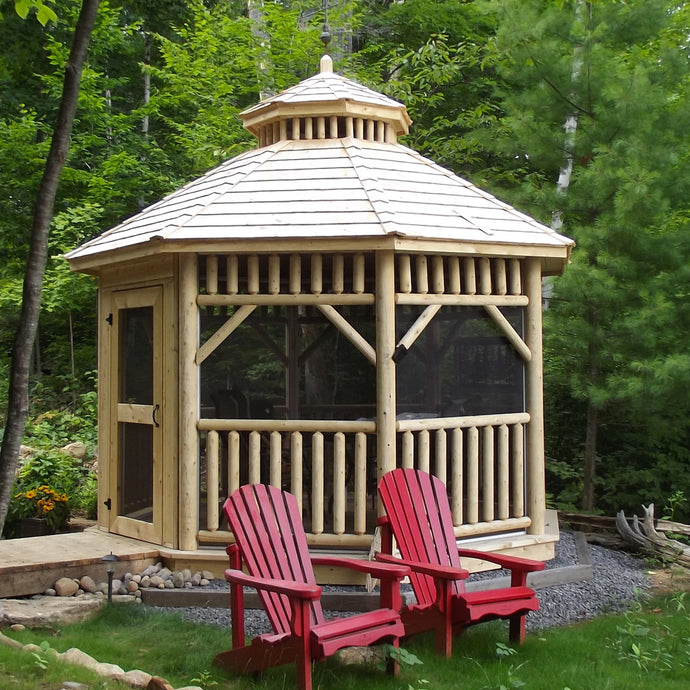 Alpine Log Octagon Gazebo