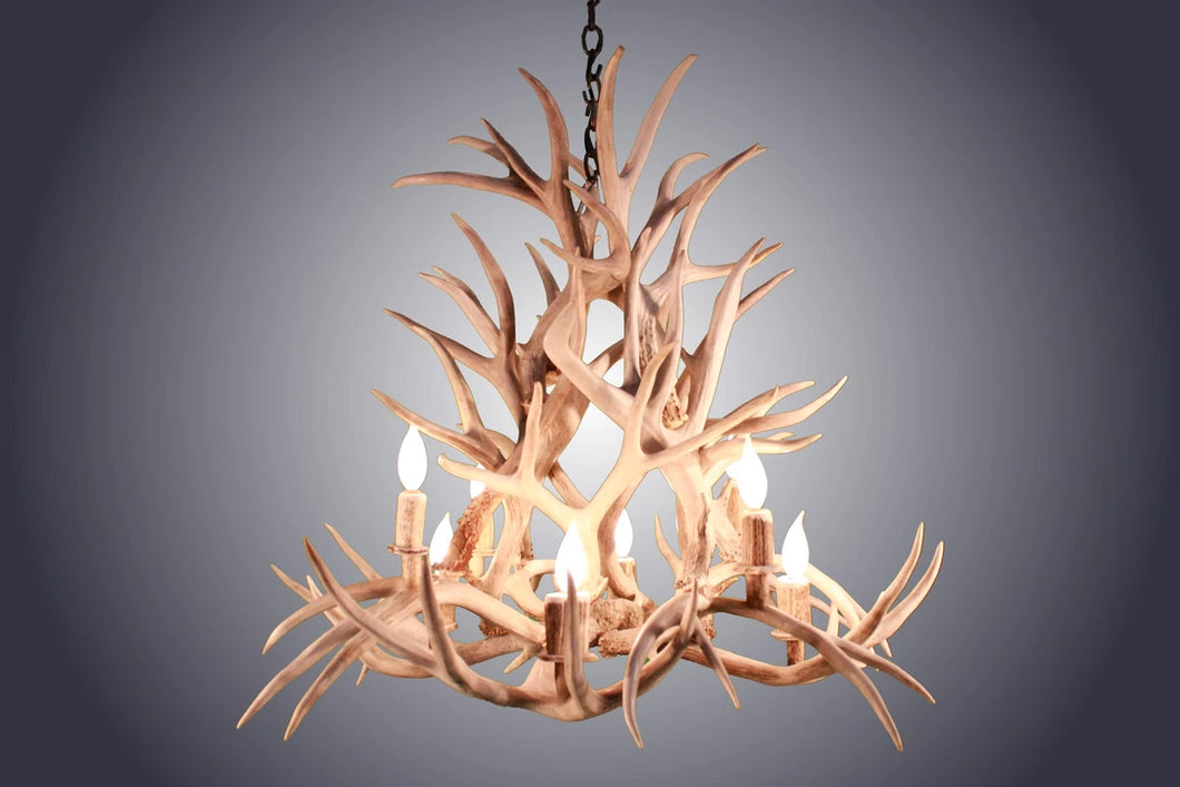 Antler Chandelier - 8 Light Magnolia Mule Deer