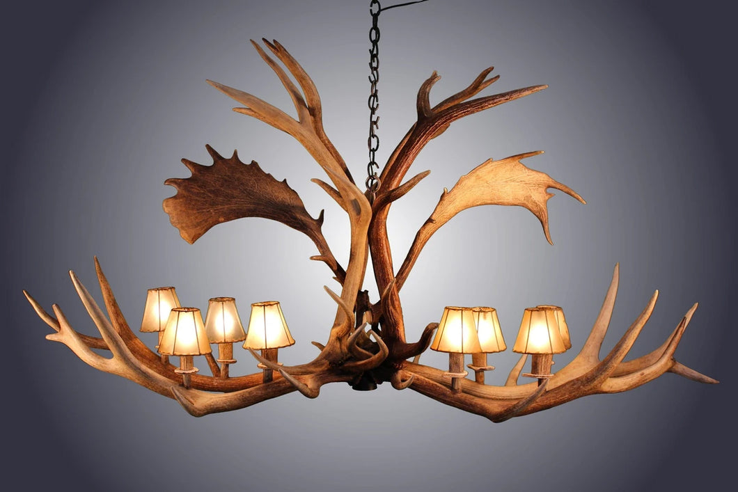 Antler Chandelier - 8 light Elk/Fallow Deer