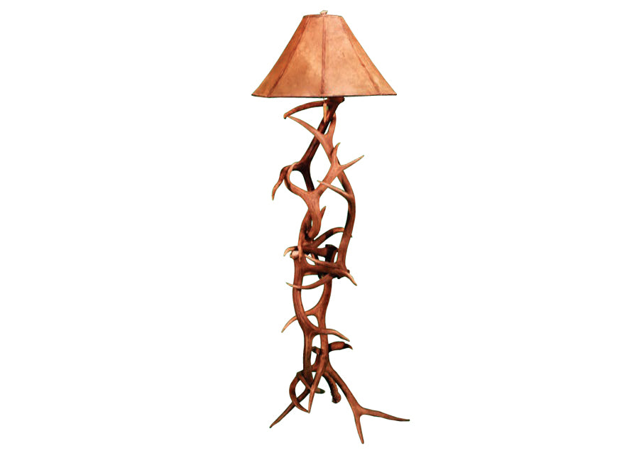 Antler Lamp - Elk and Mule Standard Floor Lamp