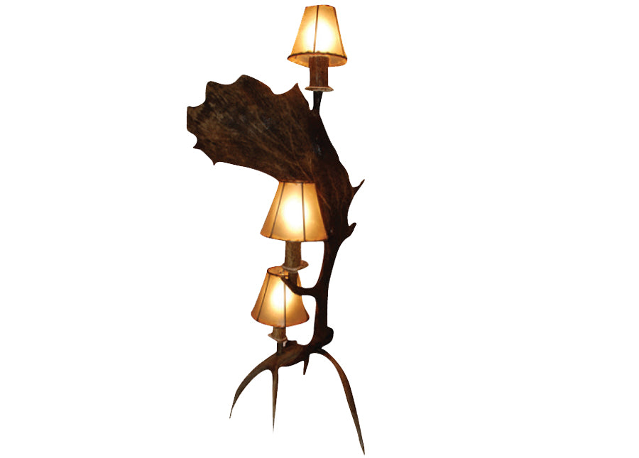 Antler Lamp - Fallow Vertical 3 Light Table Lamp