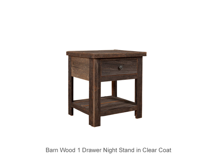 Barn Wood 1 Drawer Night Stand