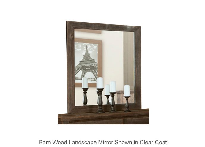 Barn Wood Landscape Mirror