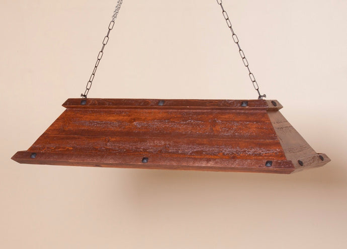 Barnwood Pool Table Light with 3 Lamps