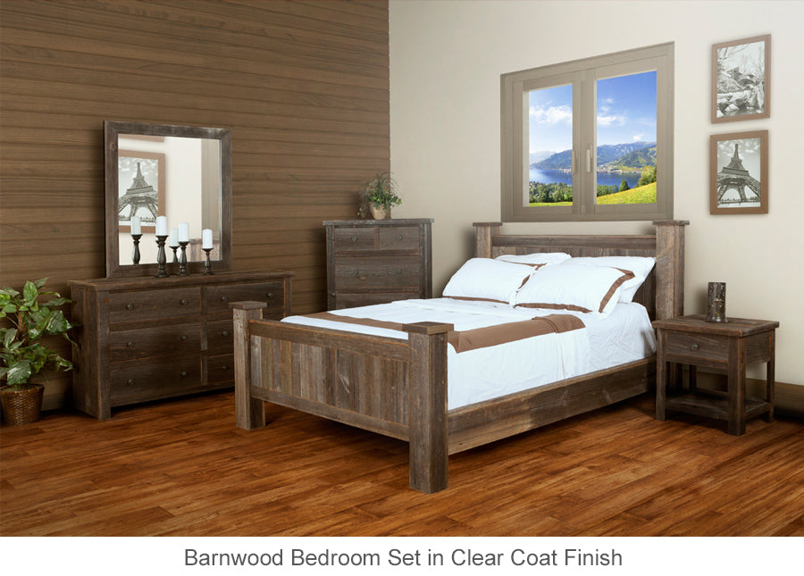 Barn Wood Bed Collection of real barnwood