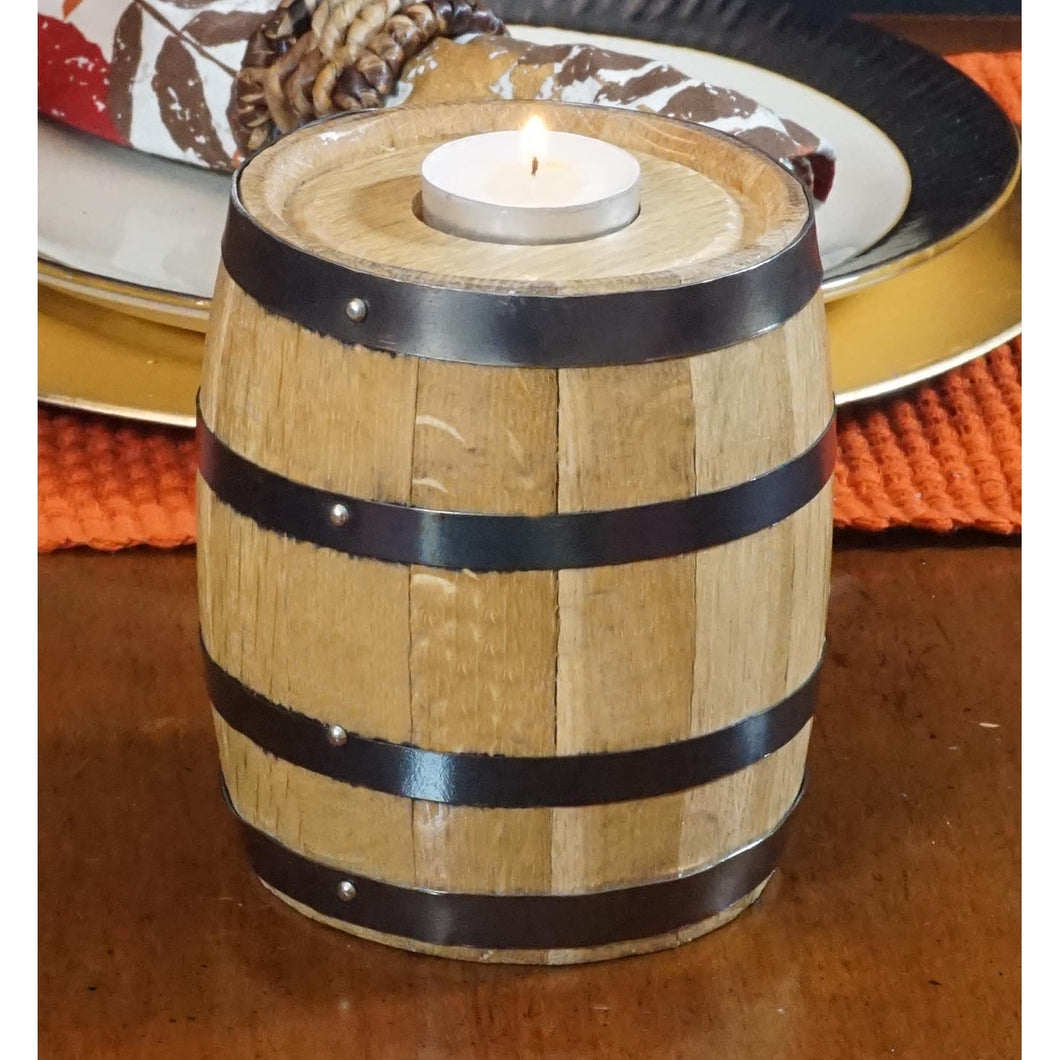 Barrel Tea Candle Holder