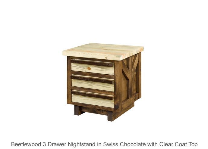 Beetlewood 3 Drawer Nightstand