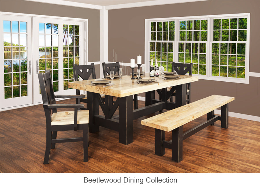 Beetlewood Dining Table is perfect for cottage