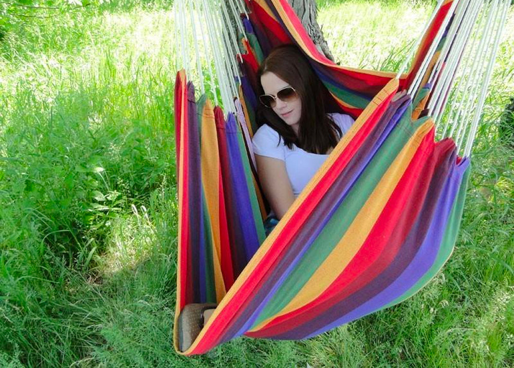 Brazilian Hammock Chair with Universal Chair Stand